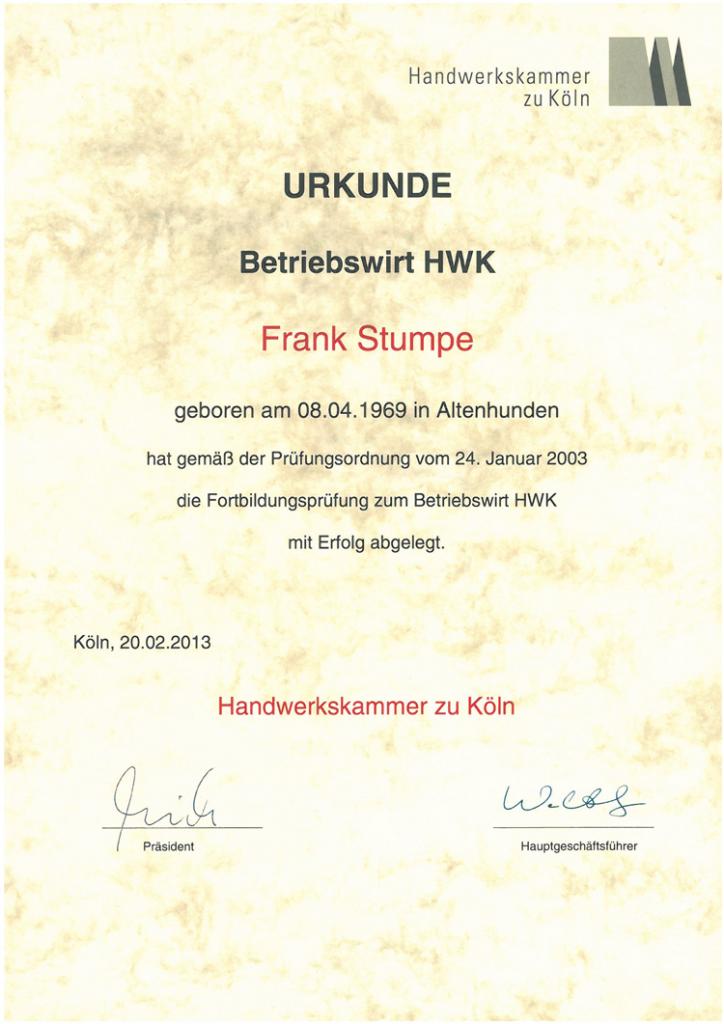Betriebswirt_HWK, Frank Stumpe, A-und-O-KFZ.de